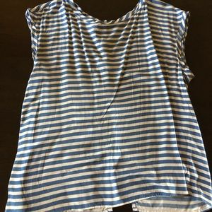 Abercrombie Striped Top with button down back